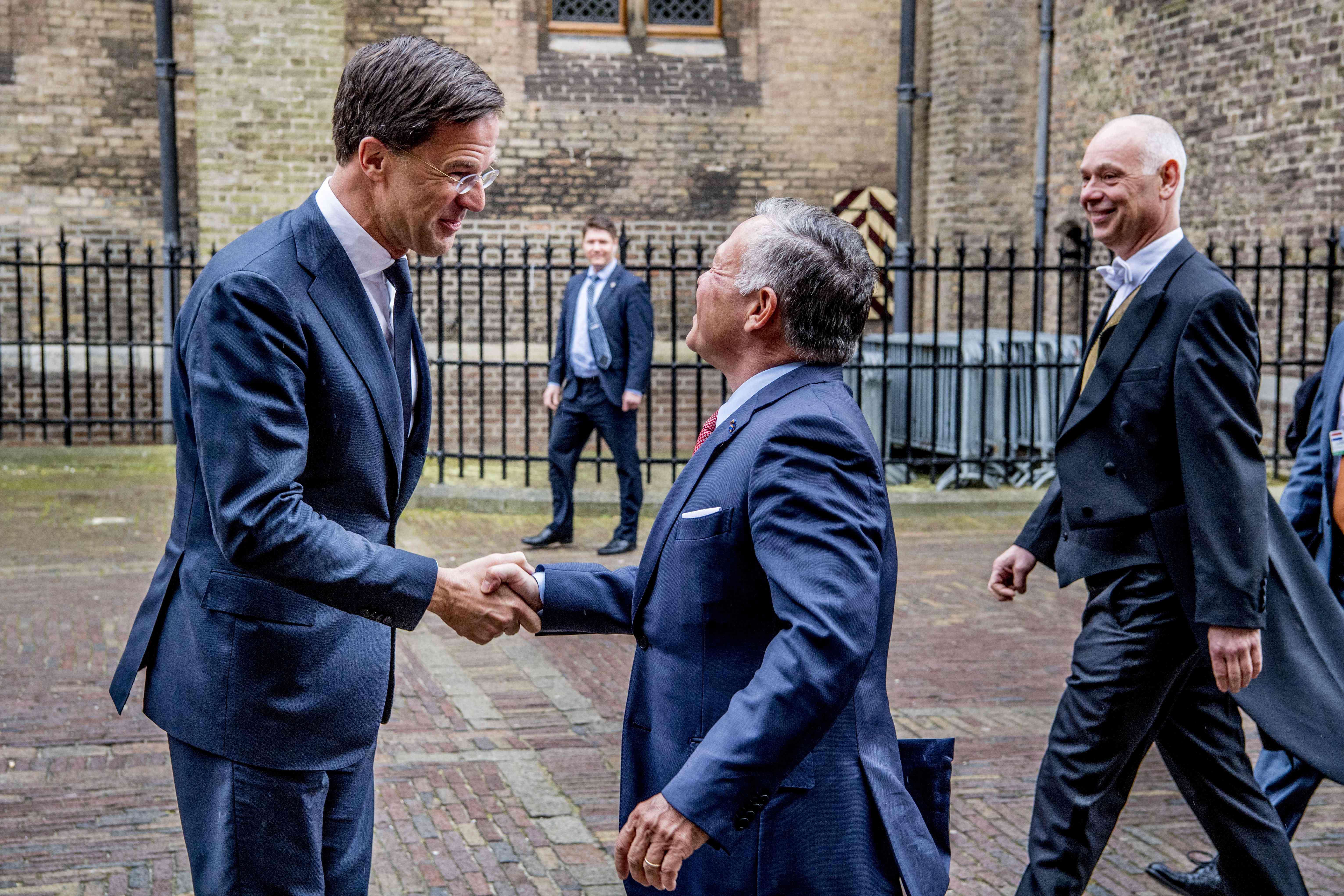 ملك الأردن  مع رئيس الوزراء الهولندي