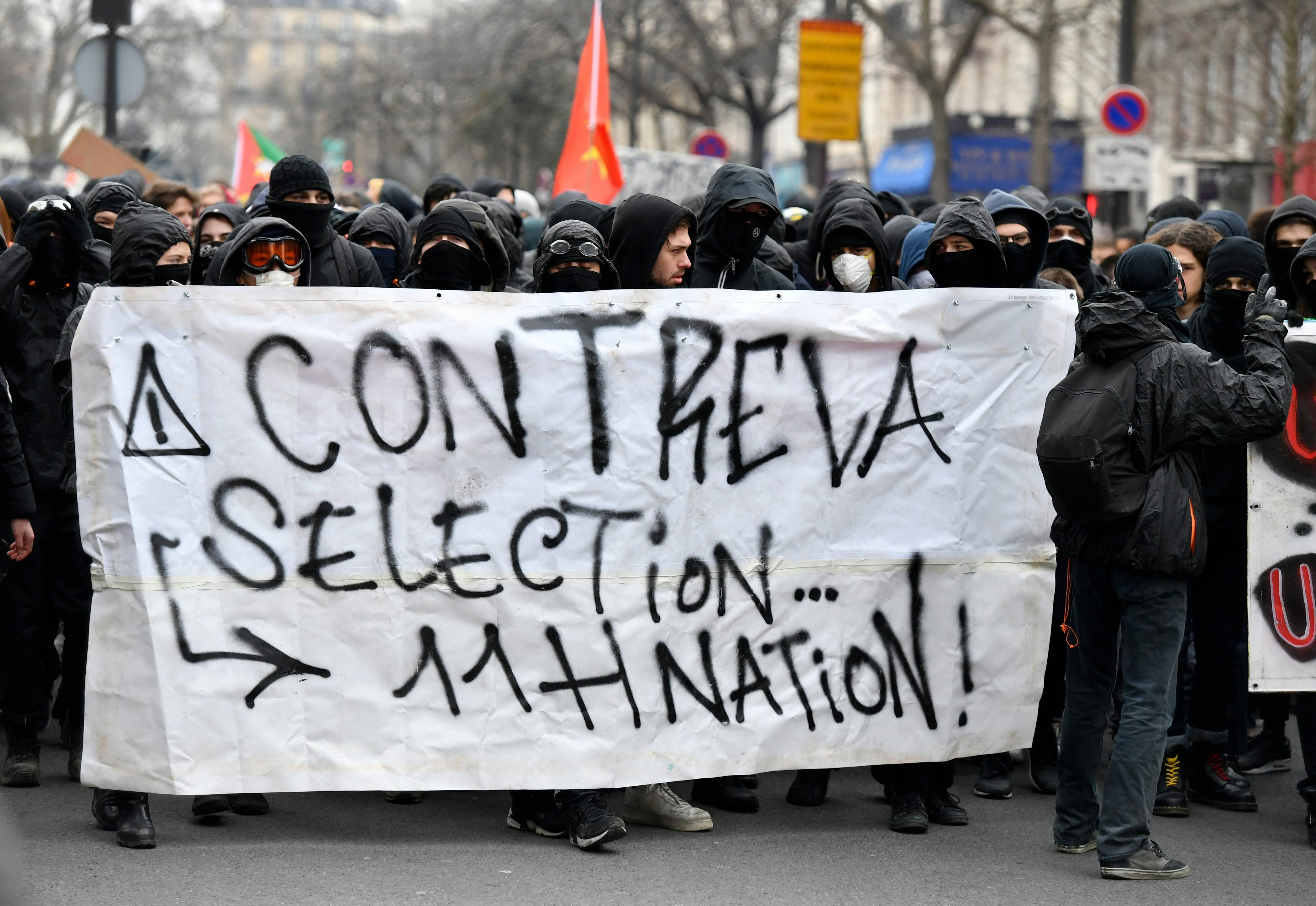 مظاهرات فى فرنسا ضد اصلاحات ماكرون