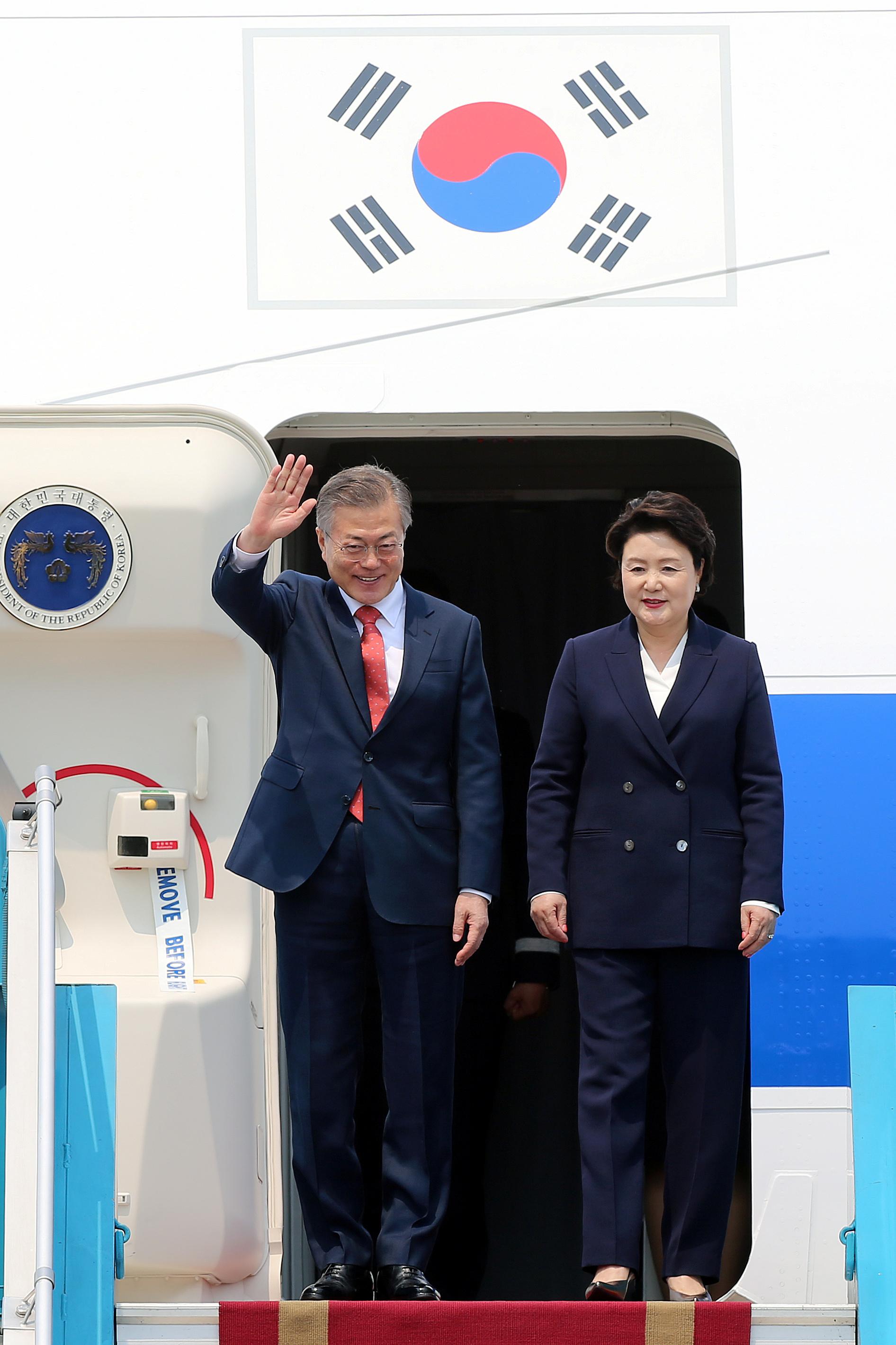 رئيس كوريا الجنوبية يصل فيتنام