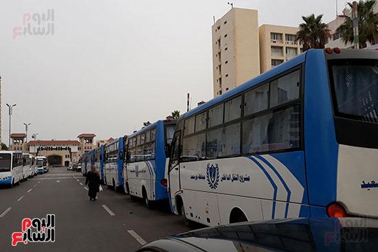 بورسعيد تجهز باصات لنقل المواطنين للجان الانتخابية