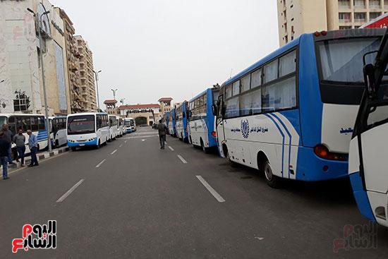 جانب من تجهيز الباصات للانتخابات