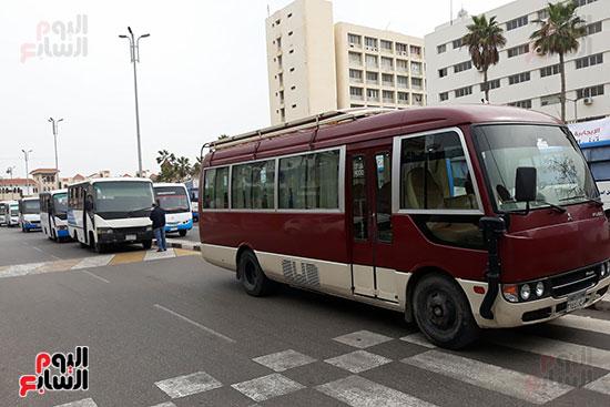 الباصات فى بورسعيد تستعد للانتخابات