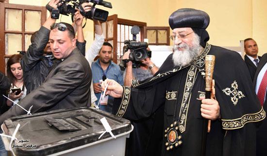 البابا تواضروس انتخابات الرئاسة 2018 (11)