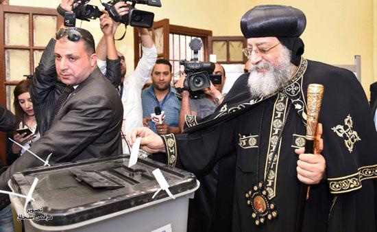البابا تواضروس انتخابات الرئاسة 2018 (10)