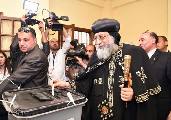 البابا تواضروس انتخابات الرئاسة 2018 (9)