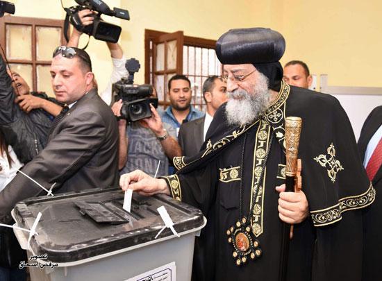 البابا تواضروس انتخابات الرئاسة 2018 (1)