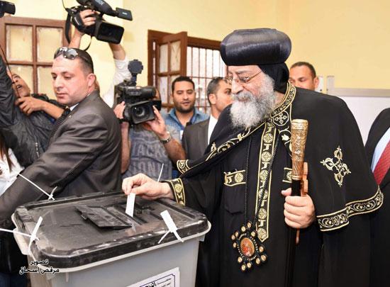البابا تواضروس انتخابات الرئاسة 2018 (4)