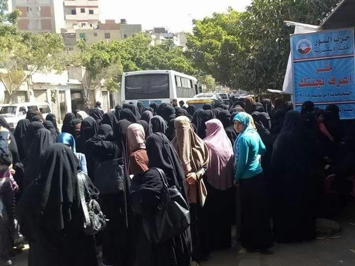 حشد نسائى من حزب النور لدعم الرئيس السيسى