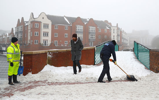 الثلوج فى بريطانيا
