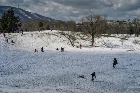 جانب من الثلوج فى صوفيا