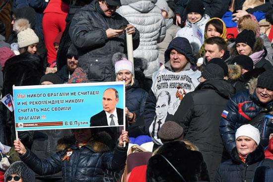 •صور بوتين خلال الاحتفالات