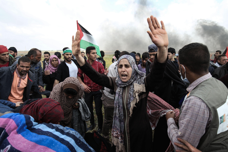 جانب من الاحتفال بيوم الأرض الفلسطينى