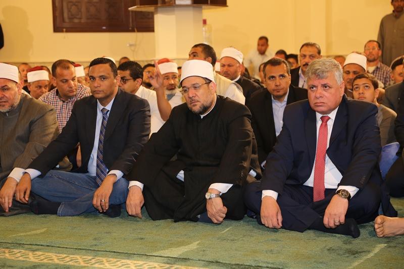 وزير الأوقاف ومدير أمن المنوفية فى افتتاح مسجد الشهيد عفيفى