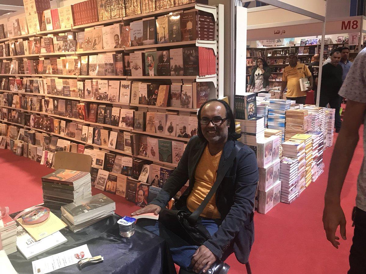 أحمد سعداوى الفائز بجائزة البوكر للرواية فى معرض بغداد الدولى للكتاب
