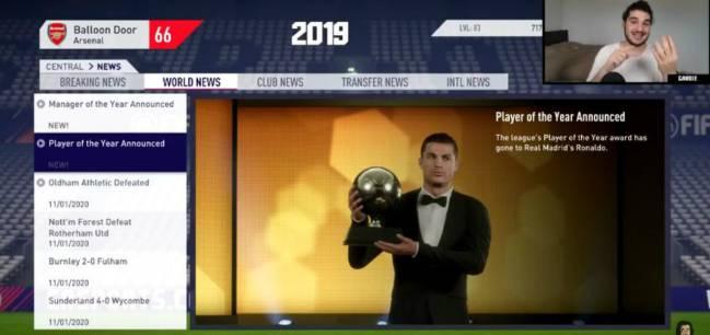 رونالدو سيفوز بالكرة الذهبية فى 2019