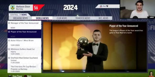 إيكاردى سيفوز بالجائزة فى 2024