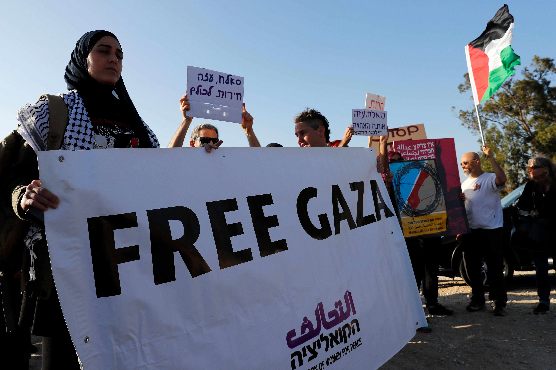 تظاهرات نشطاء فلسطينيين وإسرائيليين