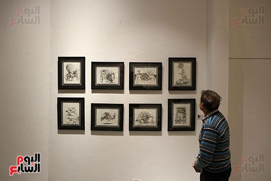 خالد سرورو يفتتح صالون القاهرة بقصر الفنون بالأوبرا (19)