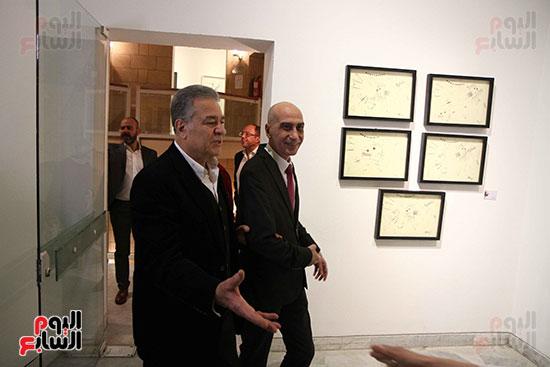 خالد سرورو يفتتح صالون القاهرة بقصر الفنون بالأوبرا (3)
