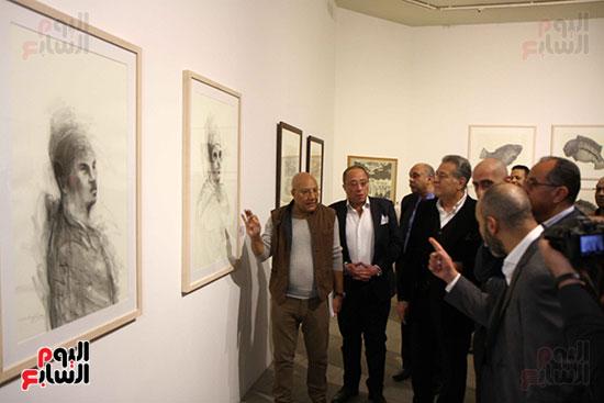 خالد سرورو يفتتح صالون القاهرة بقصر الفنون بالأوبرا (37)