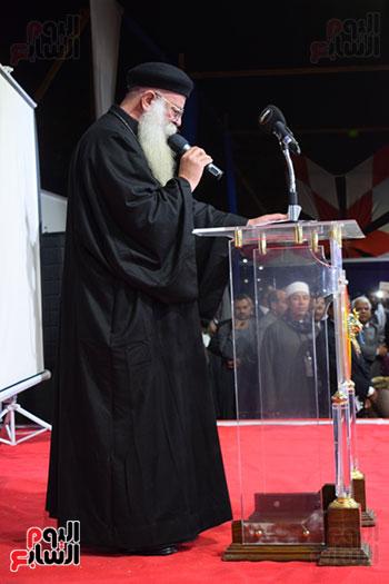 كلمة ممثل الكنيسة لدعم الرئيس السيسي