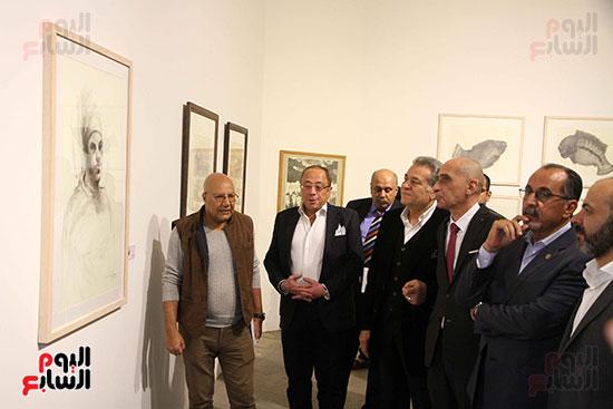 خالد سرورو يفتتح صالون القاهرة بقصر الفنون بالأوبرا (35)