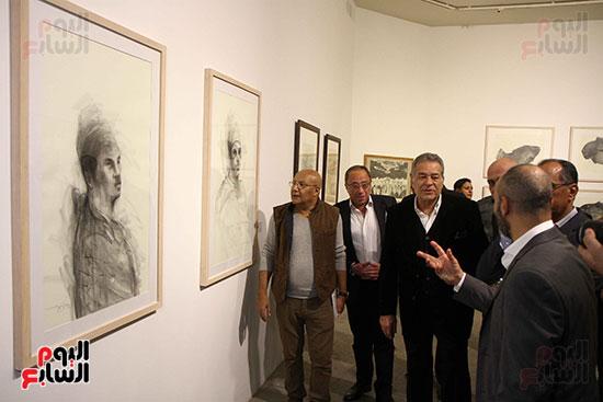 خالد سرورو يفتتح صالون القاهرة بقصر الفنون بالأوبرا (38)