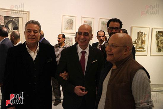 خالد سرورو يفتتح صالون القاهرة بقصر الفنون بالأوبرا (47)
