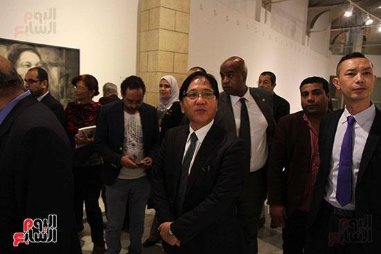 خالد سرورو يفتتح صالون القاهرة بقصر الفنون بالأوبرا (43)