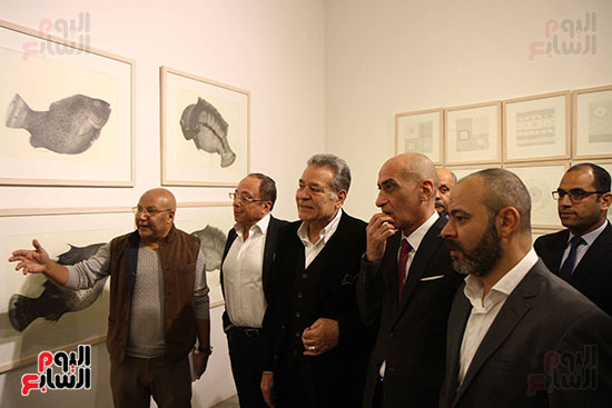 خالد سرورو يفتتح صالون القاهرة بقصر الفنون بالأوبرا (33)