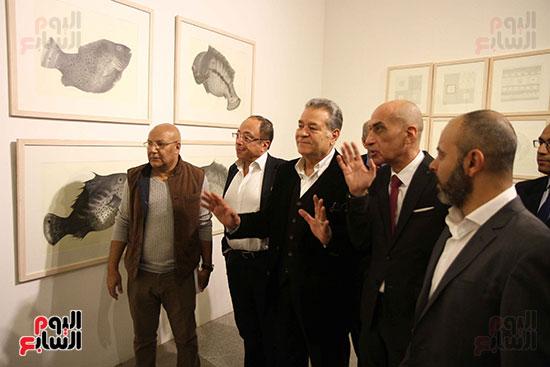 خالد سرورو يفتتح صالون القاهرة بقصر الفنون بالأوبرا (34)