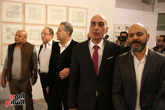 خالد سرورو يفتتح صالون القاهرة بقصر الفنون بالأوبرا (31)