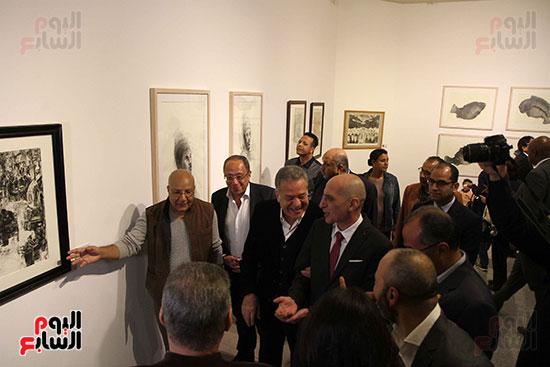 خالد سرورو يفتتح صالون القاهرة بقصر الفنون بالأوبرا (39)