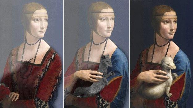 لوحة السيدة مع قاقم