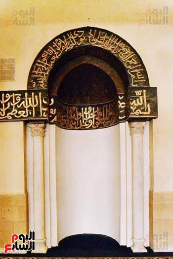 احدي قباب الجامع من الداخل