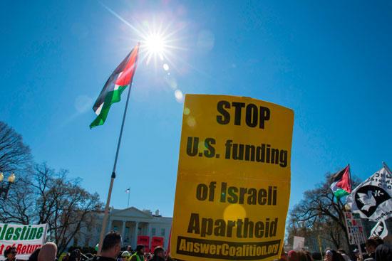 لافتات معارضة لترامب