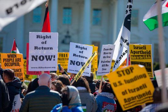 جانب من التظاهرات الأمريكية