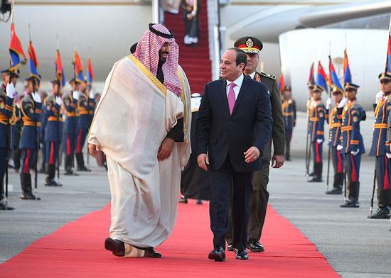 الرئيس السيسى يستقبل ولى عهد السعودية