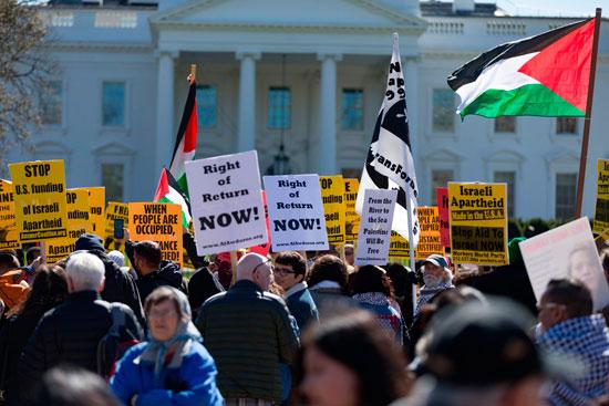 تظاهرات الامريكيين