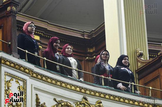 على عبد العال يرحب بطلاب كلية الحقوق جامعة المنصورة (6)