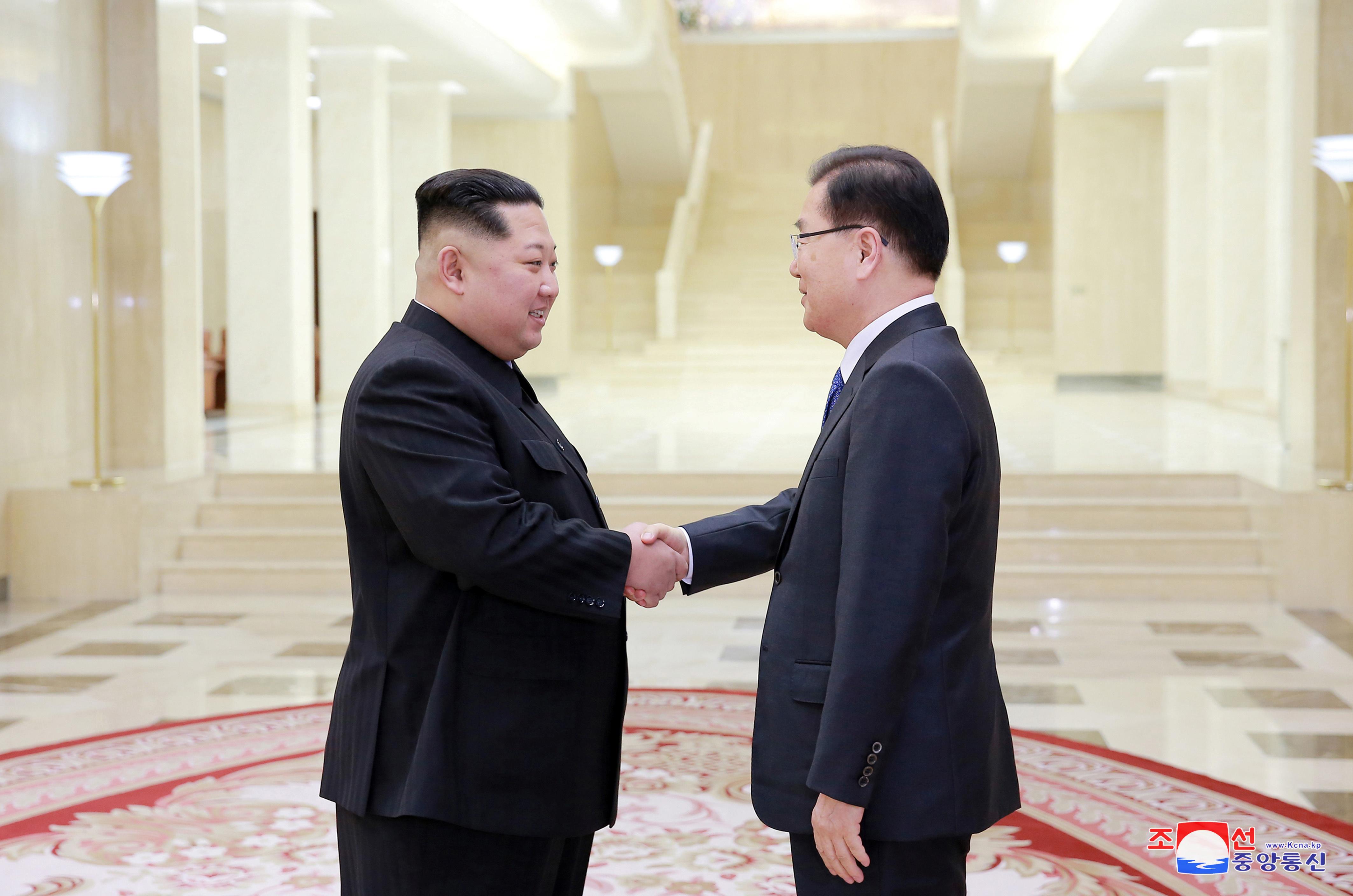 زعيم كوريا الشمالية يلتقى أحد مبعوثى وفد كوريا الجنوبية