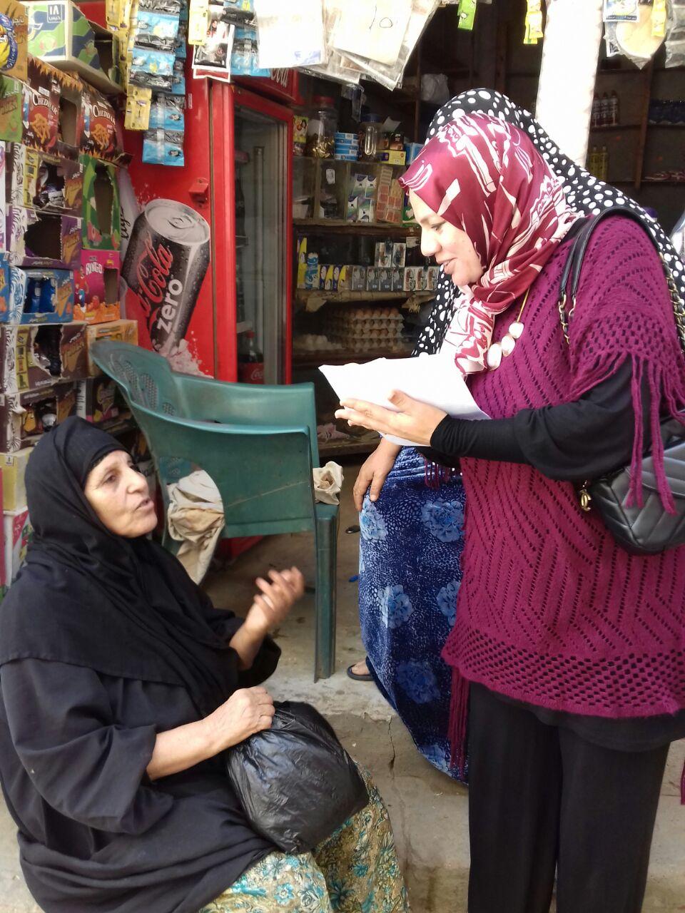رقم  5أحدي المتطوعات أثناء الحملات
