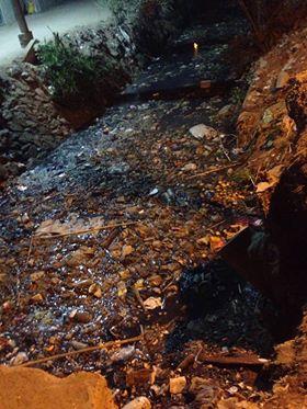انتشار القمامة بمصرف قريه الجيار