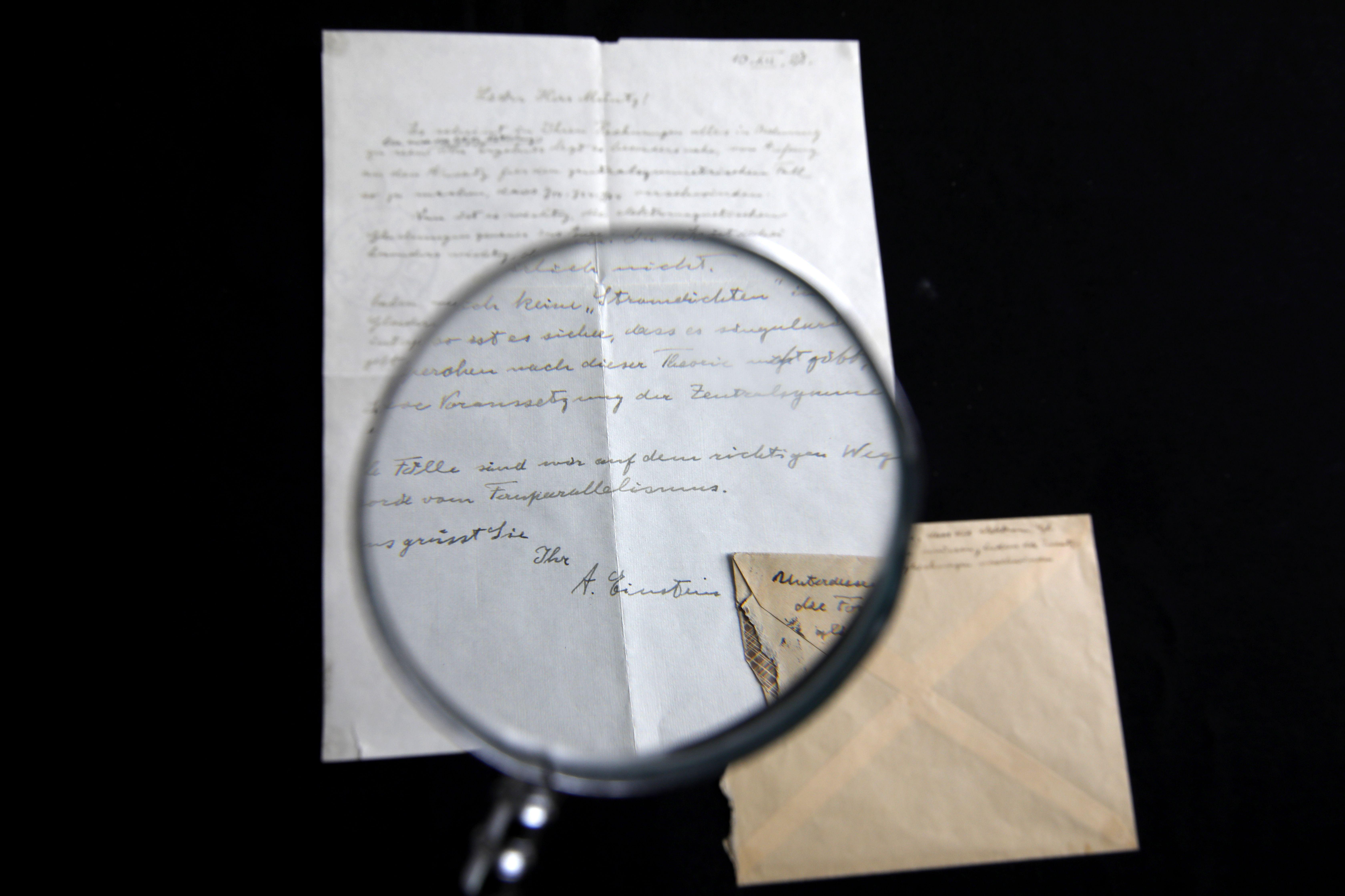 إحدى رسائل أينشتاين