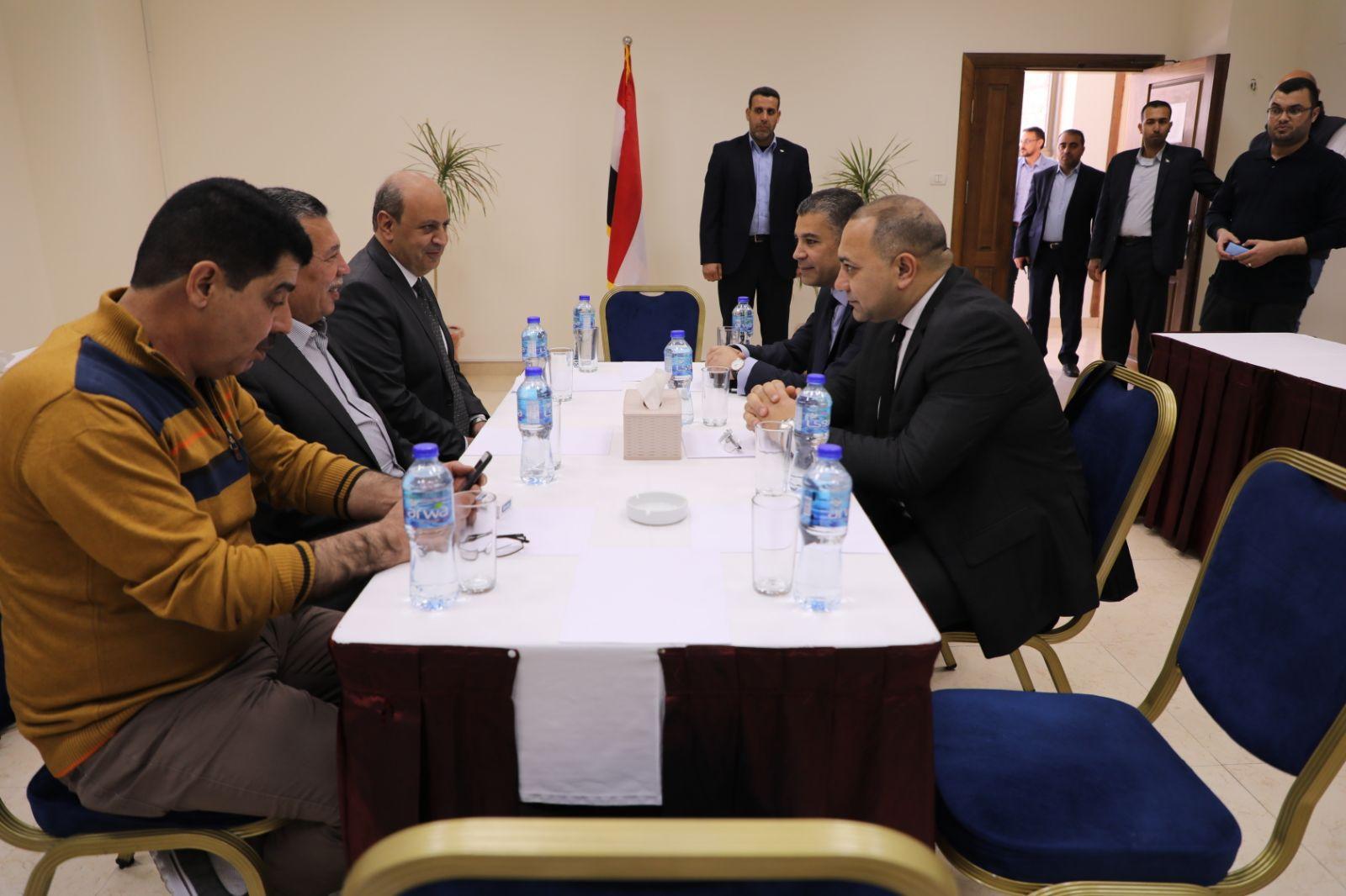 جانب من اجتماعات الوفد المصرى فى غزة
