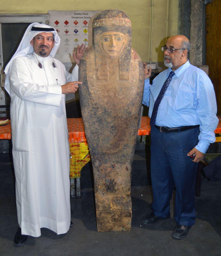 التمثال المضبوط بالكويت