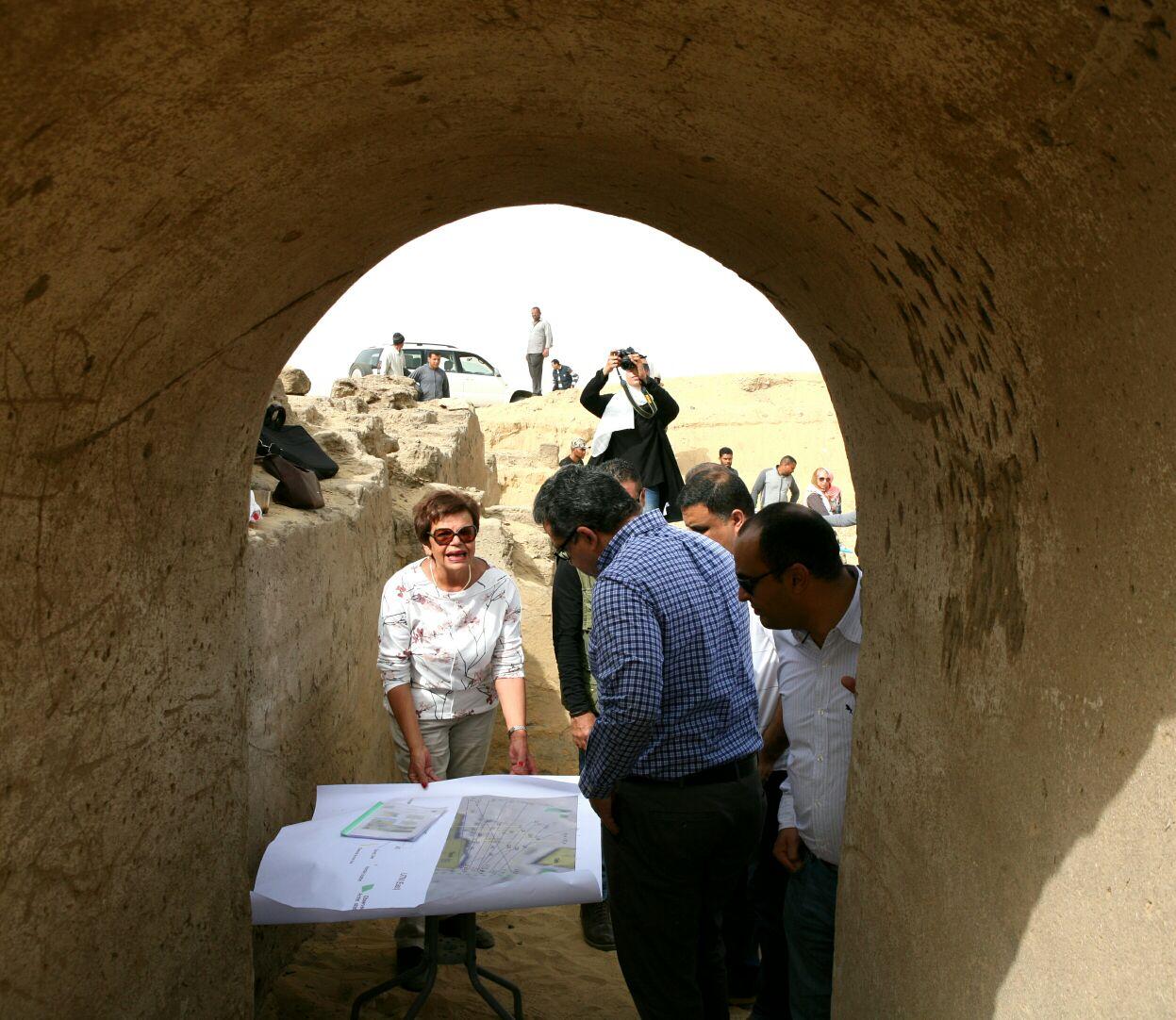 وزير الآثار يتفقد أعمال حفائر بعثة جامعة القاهرة بمنطقة سقارة (1)