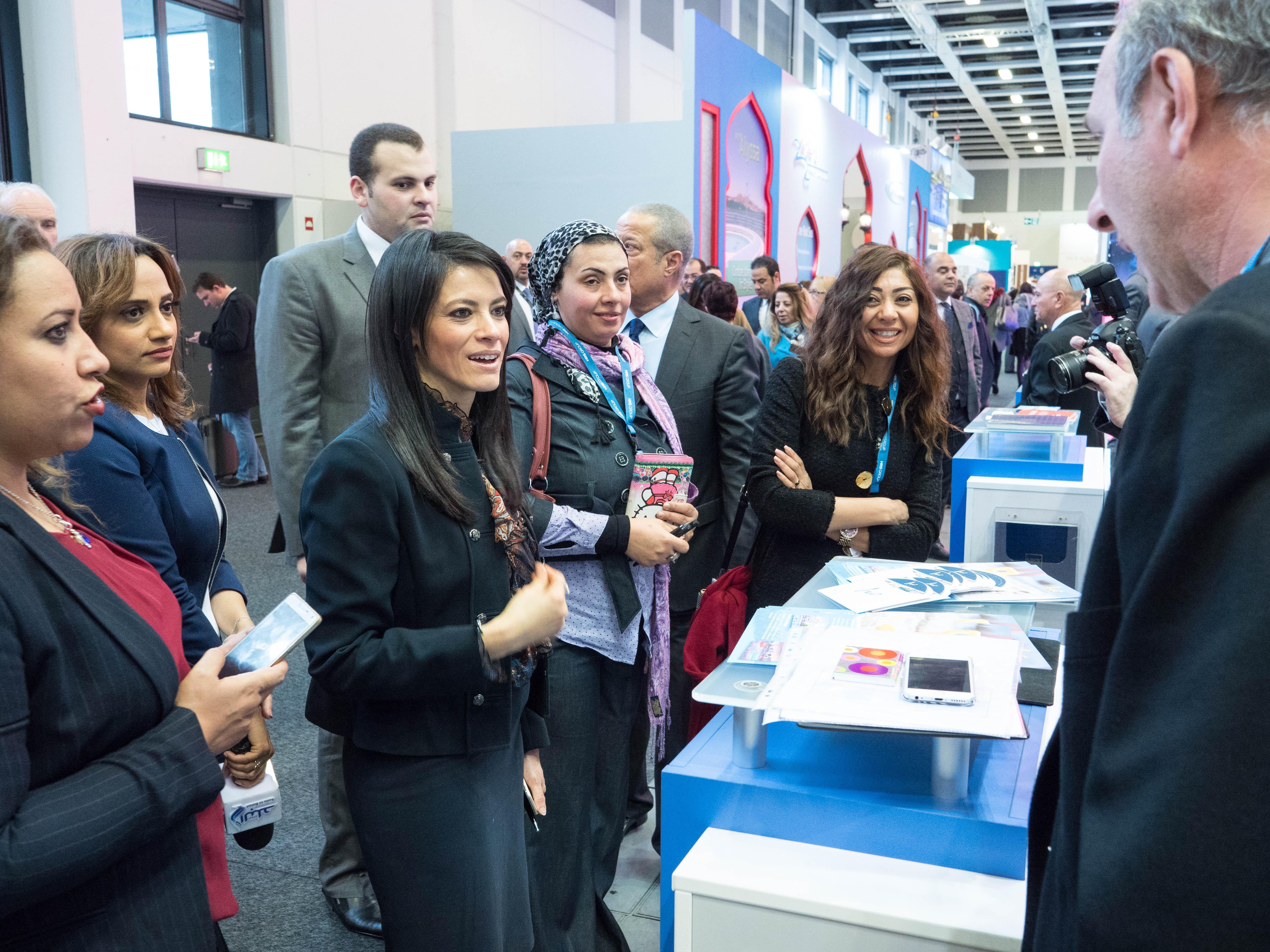 وزيرة السياحة رانيا المشاط ببورصة برلين
