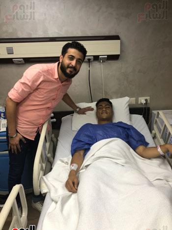مصطفى محمد بعد إجراء العملية