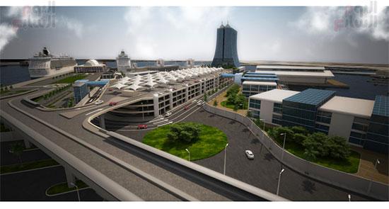 مشروع إنشاء جراج متعدد الطوابق بميناء الإسكندرية (16)